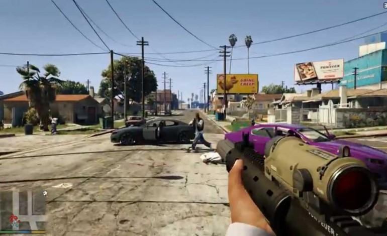 GTA V mit Ego-Shooter-Perspektive für PC, Xbox One und PS4