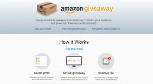 Amazon Giveaway zum Verantstalten von Gewinnspielen - Bildquelle: amazon.com/giveaway