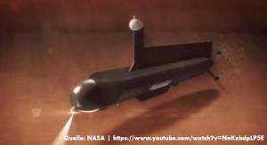 Die NASA plant ein U-Boot um den Kraken Mare auf dem Saturnmond Titan zu untersuchen - Bild: NASA (Screenshot vom YouTube Video)