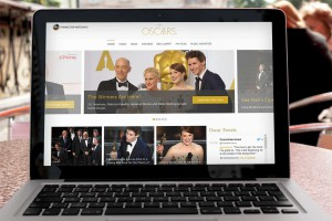 Oscars 2015: Sieger und Highlights - Website im Notebook: oscar.go.com