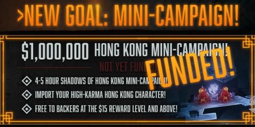 Shadowrun Hong Kong: Das Ziel für 1 Million Dollar ist erreicht - Bildquelle: Harebrained Schemes LLC auf Kickstarter