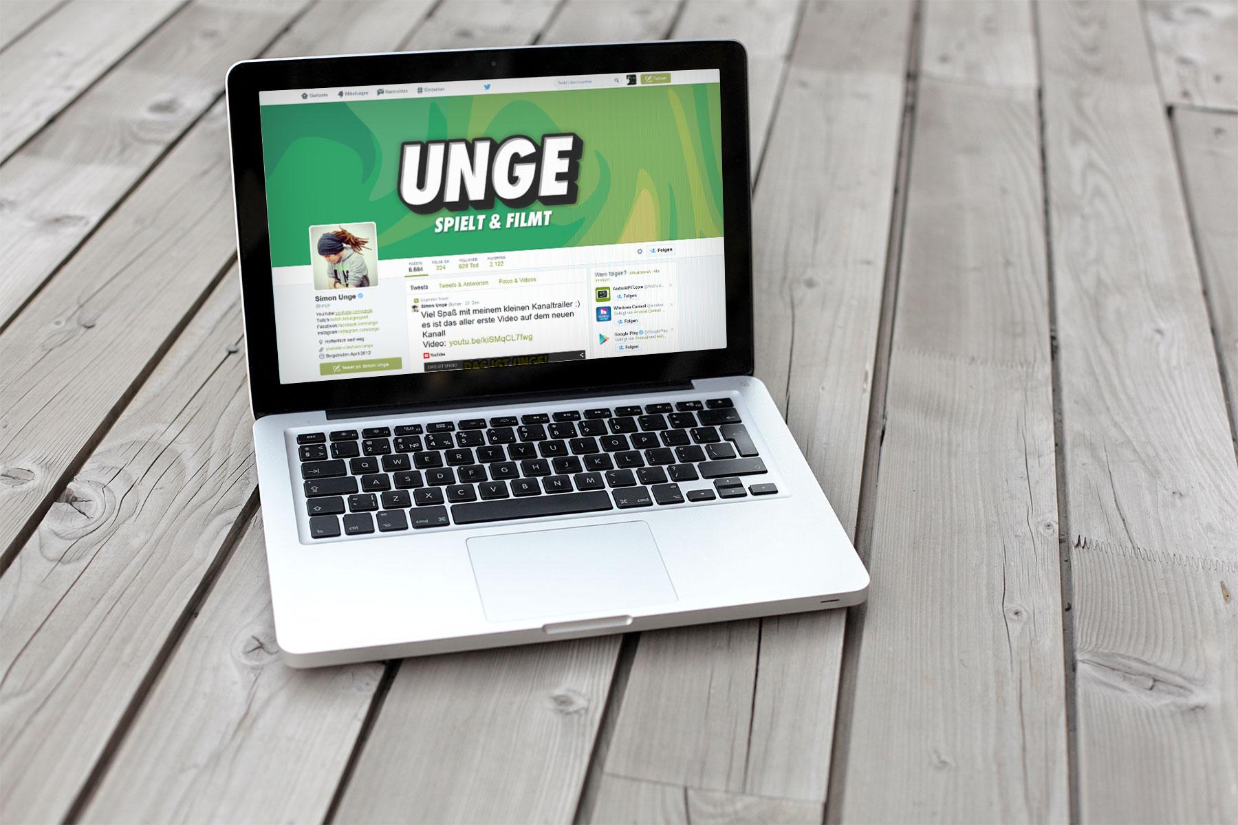 Simon Unge stürmt mit dem Hashtag #ungereist nun auch die Twitter Trends - Bildquelle: Eigene Darstellung / Twitter Account @unge