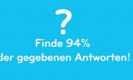 94 Prozent: Die App, in der du 94% der Antworten finden musst