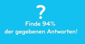 Finde in der App 94 Prozent der Antworten