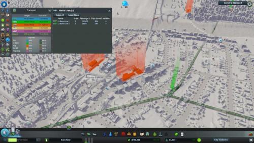 Mit der Transport UI kannst du dir in Cities Skylines  alle Linien übersichtlich anzeigen lassen