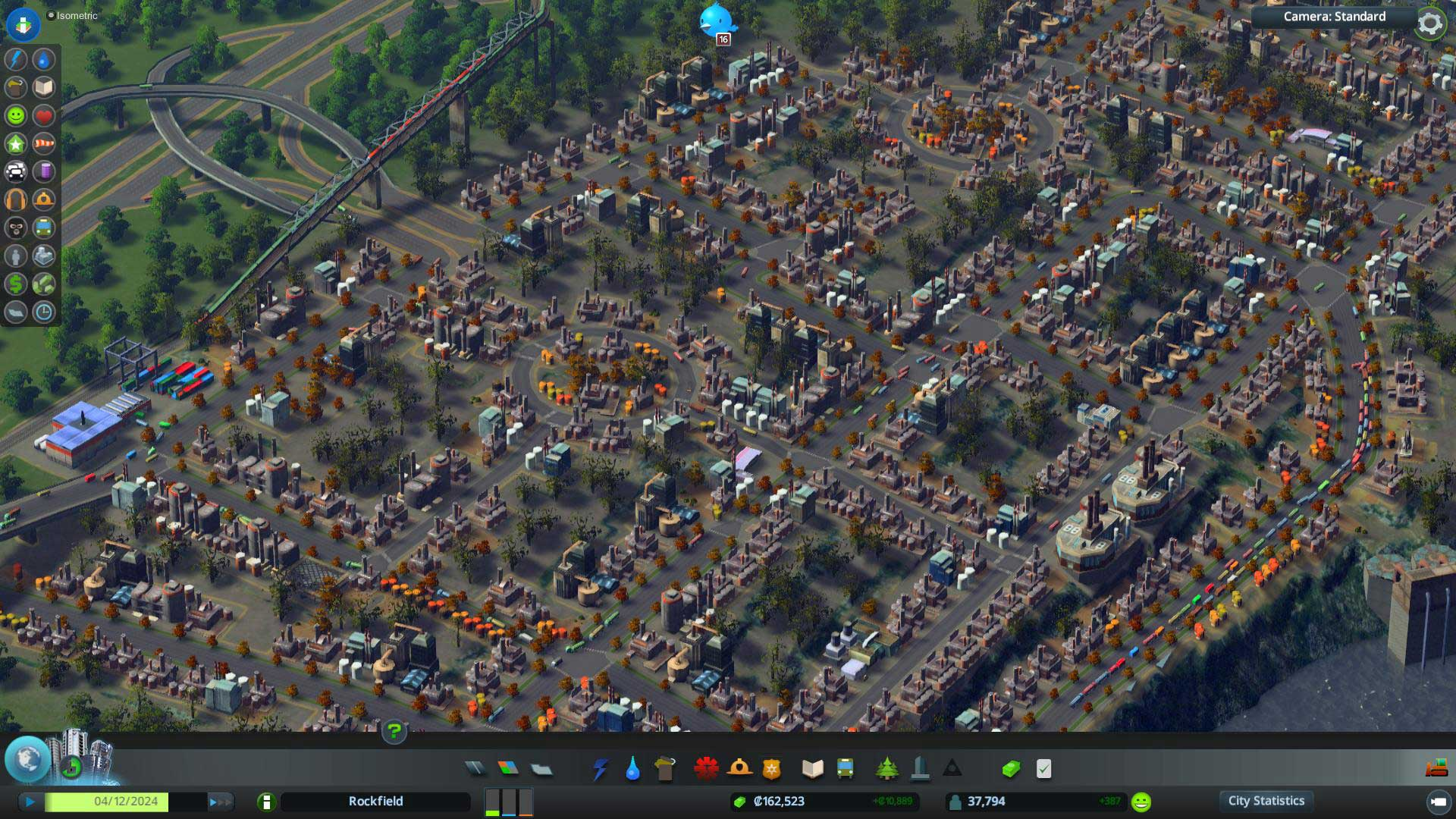 Cities Skylines in isometrischer Ansicht