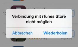 Verbindung mit iTunes Store nicht möglich: Aktuelle Störung sorgt für Frust