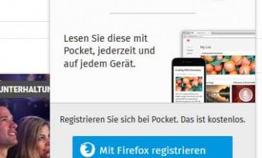 Firefox: Bei Pocket speichern ab Version 38.0.5 - Was ist das?