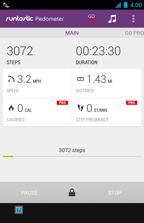Mit Runtastic Pedometer kannst du ganz einfach deine Schritte zählen - Bildquelle: Runtastic