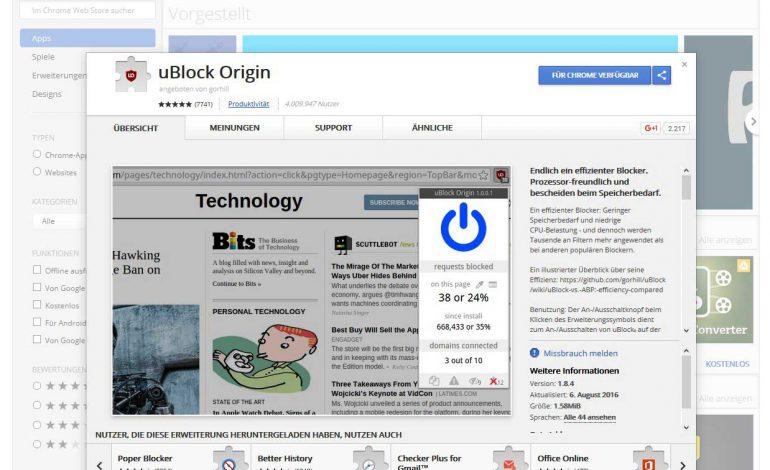 Werbeblocker uBlock Origin: Wenn Adblock Plus nur noch Werbung durchlässt