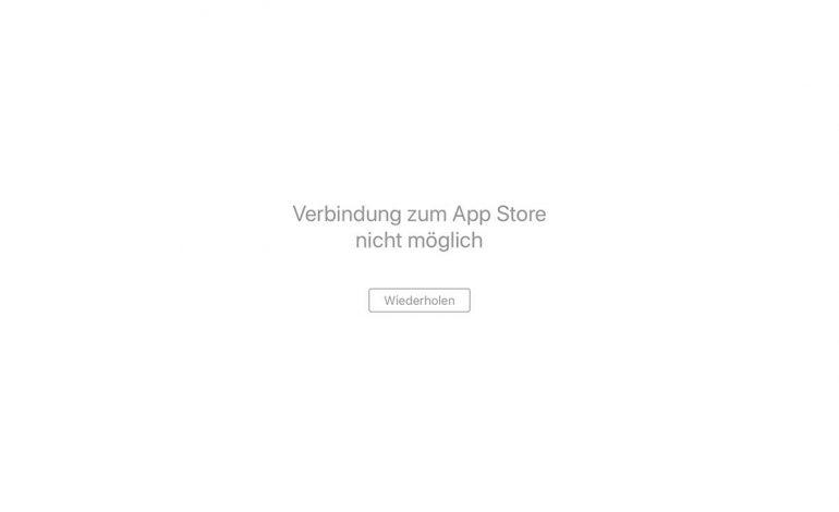 Verbindung zum App Store nicht möglich: Störung bei Apple